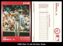 1990 Star Co #4 All-Star Stats