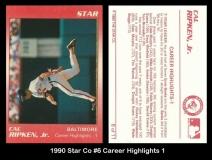 1990 Star Co #6 Career Highlights 1