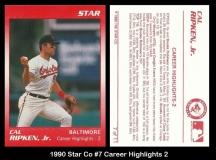 1990 Star Co #7 Career Highlights 2