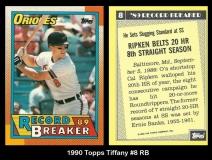 1990 Topps Tiffany #8 RB