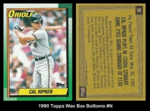 1990 Topps Wax Box Bottoms #N
