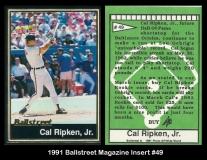 1991 Ballstreet Magazine Insert #49