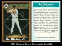 1991 Diamond Sports Memorabilia Insert #2