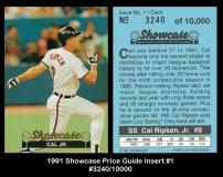 1991 Showcase Price Guide Insert #1