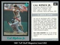1991 Tuff Stuff Magazine Insert #32
