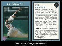 1991 Tuff Stuff Magazine Insert #9