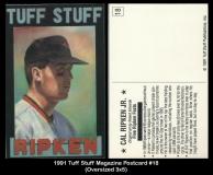 1991 Tuff Stuff Magazine Postcard #18