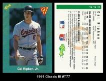 1991 Classic III #T77