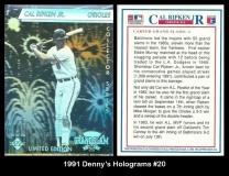 1991 Dennys Holograms #20