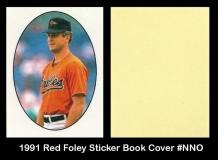 1991 Red Foley Sticker Book Cover #NNO