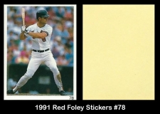 1991 Red Foley Stickers #78
