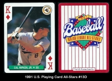 1991 US Playing Card All-Stars #13D