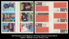 1991-Baseball-Cards-Magazine-66-Topps-Replicas-Panel-49-54