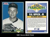 1991 Score #849 FRAN