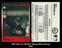 1991 Star Co All-Star Glossy #58 Ironman