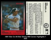 1991 Star Co All-Star Glossy #59 Career Highlights 1
