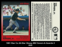 1991 Star Co All-Star Glossy #62 Honors & Awards 2