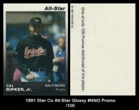 1991 Star Co All-Star Glossy #NNO Promo
