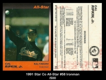1991 Star Co All-Star #58 Ironman