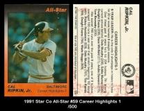 1991 Star Co All-Star #59 Career Highlights 1