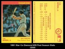 1991 Star Co Diamond #29 Post Season Stats