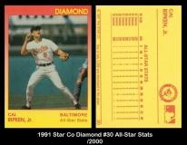 1991 Star Co Diamond #30 All-Star Stats