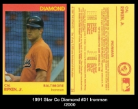 1991 Star Co Diamond #31 Ironman
