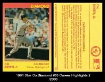 1991 Star Co Diamond #33 Career Highlights 2