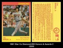 1991 Star Co Diamond #35 Honors & Awards 2
