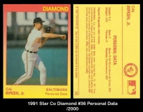 1991 Star Co Diamond #36 Personal Data