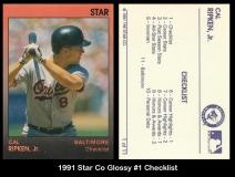 1991 Star Co Glossy #1 Checklist