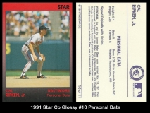 1991 Star Co Glossy #10 Personal Data