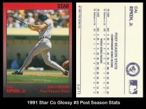 1991 Star Co Glossy #3 Post Season Stats