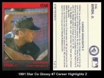 1991 Star Co Glossy #7 Career Highlights 2