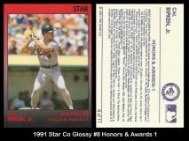 1991 Star Co Glossy #8 Honors & Awards 1
