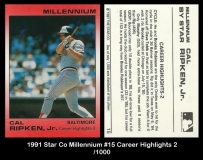 1991 Star Co Millennium #15 Career Highlights 2