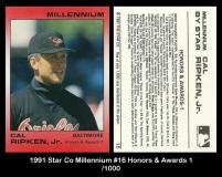 1991 Star Co Millennium #16 Honors & Awards 1