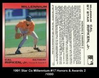 1991 Star Co Millennium #17 Honors & Awards 2