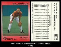 1991 Star Co Millennium #73 Career Stats