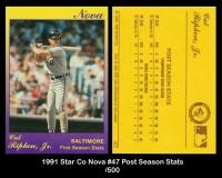 1991 Star Co Nova #47 Post Season Stats