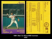 1991 Star Co Nova #49 Ironman
