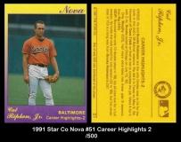 1991 Star Co Nova #51 Career Highlights 2