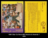 1991 Star Co Nova #52 Honors & Awards 1