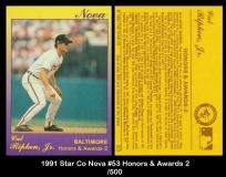 1991 Star Co Nova #53 Honors & Awards 2