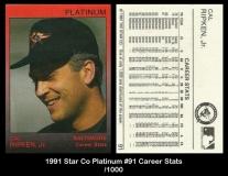 1991 Star Co Platinum #91 Career Stats