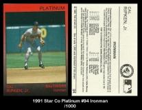 1991 Star Co Platinum #94 Ironman