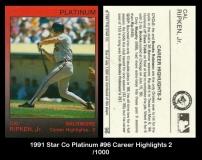 1991 Star Co Platinum #96 Career Highlights 2