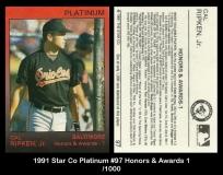 1991 Star Co Platinum #97 Honors & Awards 1