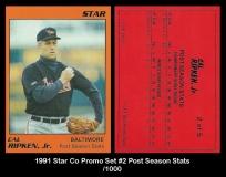 1991 Star Co Promo Set #2 Post Season Stats