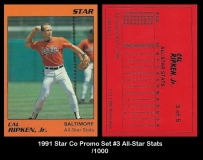 1991 Star Co Promo Set #3 All-Star Stats